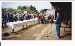 """L'INRA a validé le compromis économique, social et environnemental des fermes herbagères économes et autonomes du CEDAPA, après un suivi de 27 fermes pendant 5 ans. Ci dessus, le olloque de restitution de l'étude """"Système Terre et Eau"""" sur une ferme en 2000."""